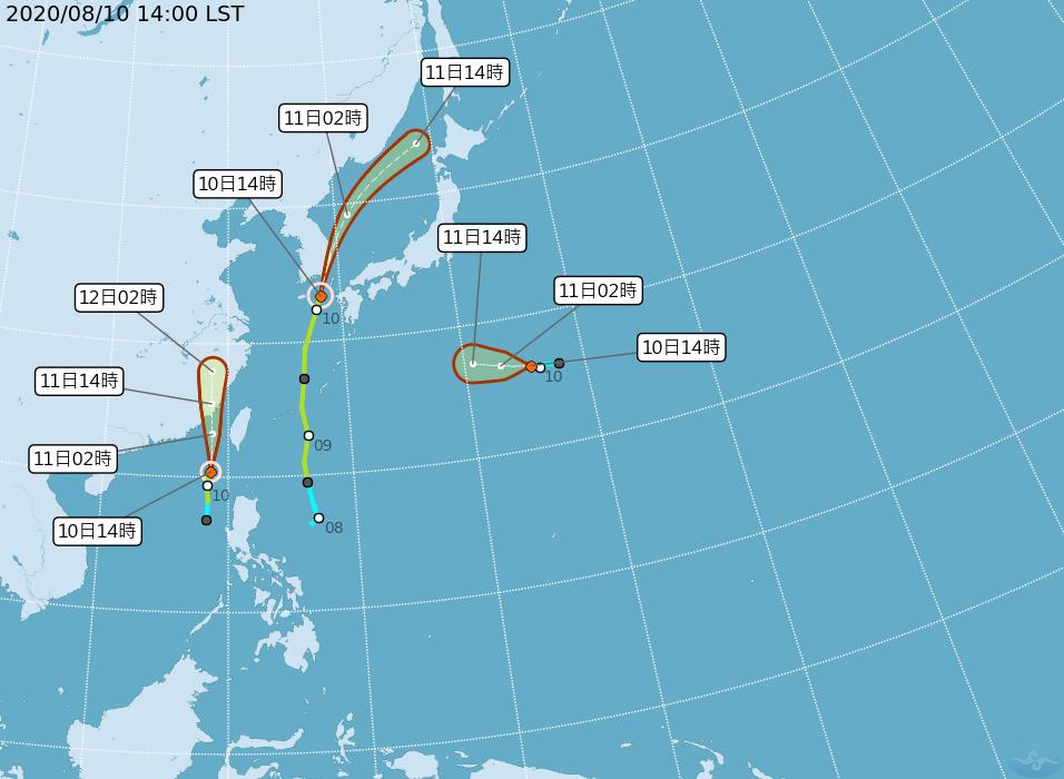 第6號颱風「米克拉」今晚到明天上午影響最劇烈