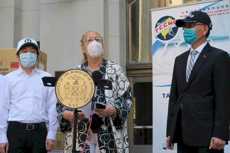 台灣捐5萬片口罩 紐約曼哈頓區長盛讚慷慨