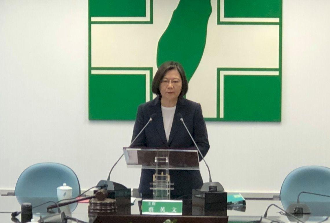 蔡總統再籲北京誠懇與港民溝通 邀國際共同挺港