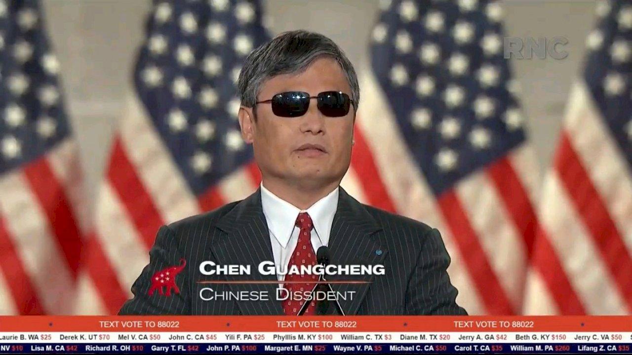 陳光誠:美國對中綏靖政策結束 總統選舉「大局已定」