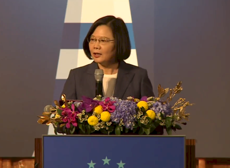 深化台歐互惠合作 蔡總統:防疫物資供應鏈合作為第一步