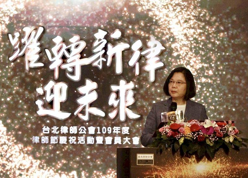 慶祝律師節 總統盼做台灣人權法治後盾