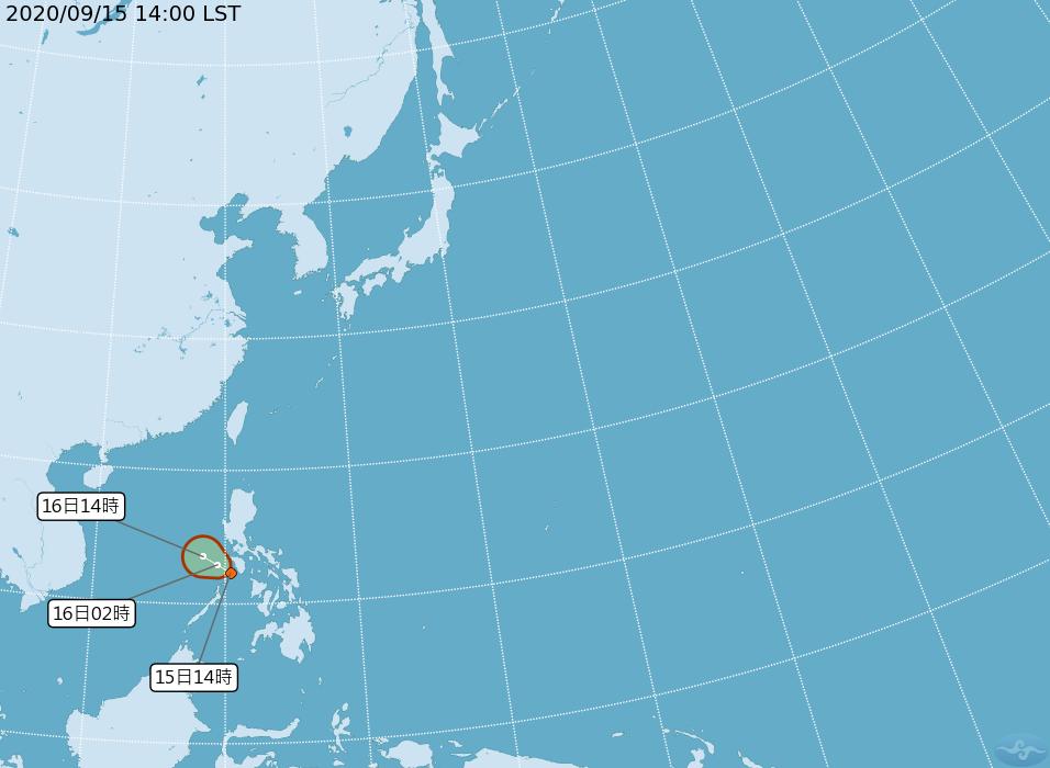 氣象局:熱低壓可能成輕颱紅霞 對台無直接影響