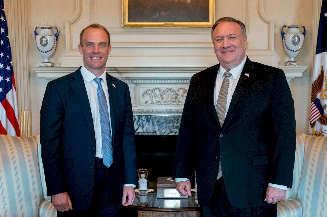 美英外長華府會晤 談中國挑戰及香港新疆議題