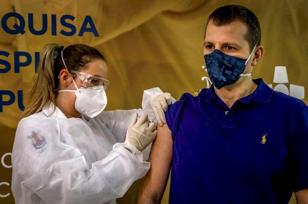 巴西單日逾2萬人確診 總感染數逼近2千萬大關