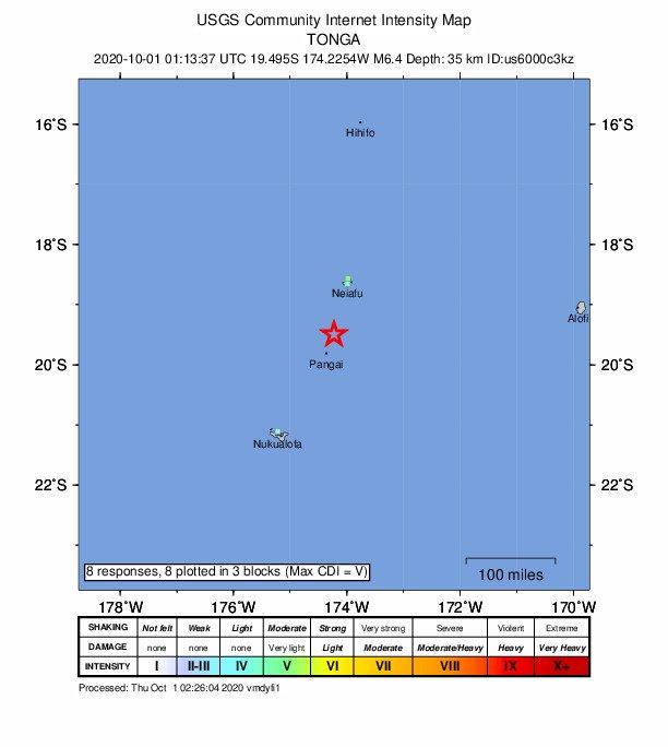 規模6.7淺層地震 襲東加外海