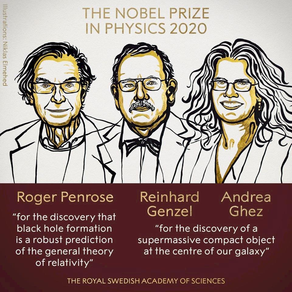 發現黑洞 3科學家共享2020諾貝爾物理學獎