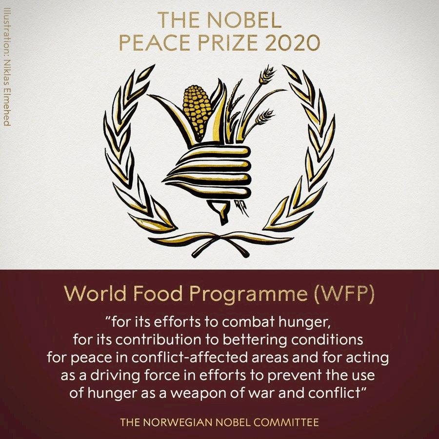 2020諾貝爾和平獎:世界糧食計劃署