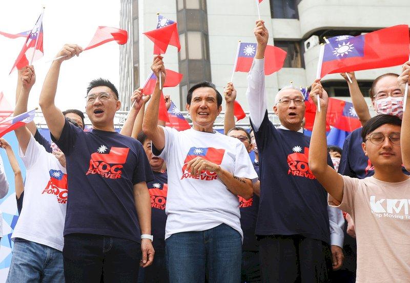 國民黨辦升旗 江啟臣籲民進黨思考對中華民國認同