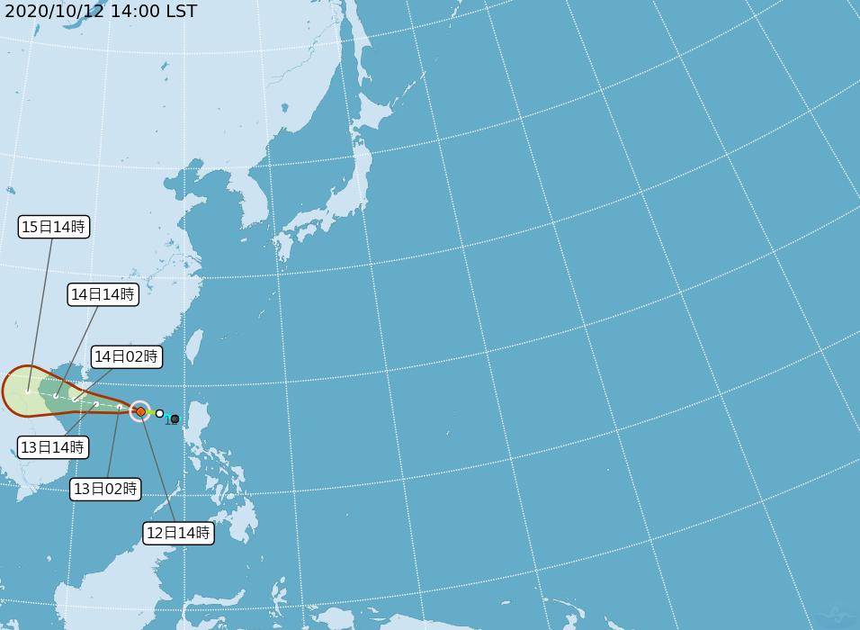 第16號颱風「南卡」生成 對台無直接影響