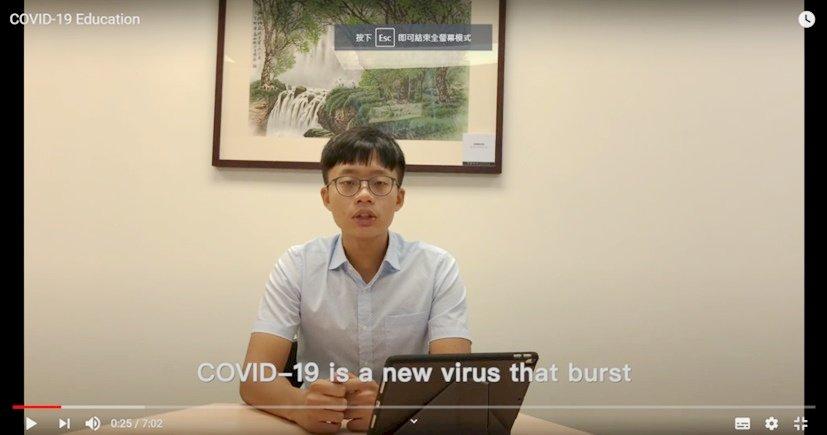 台青志工團特製防疫宣導片 送愛尼泊爾