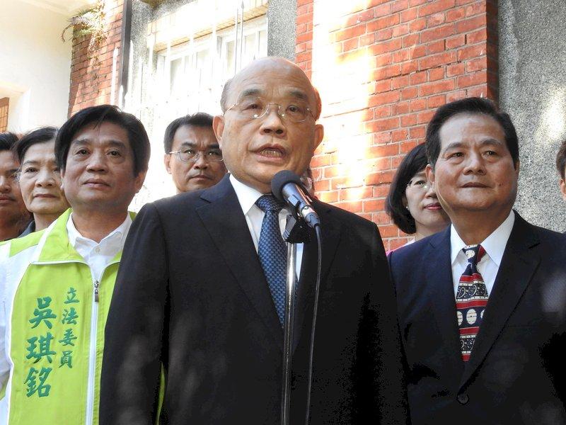 蘇揆:我們不要戰爭 別用戰爭威脅台灣人民