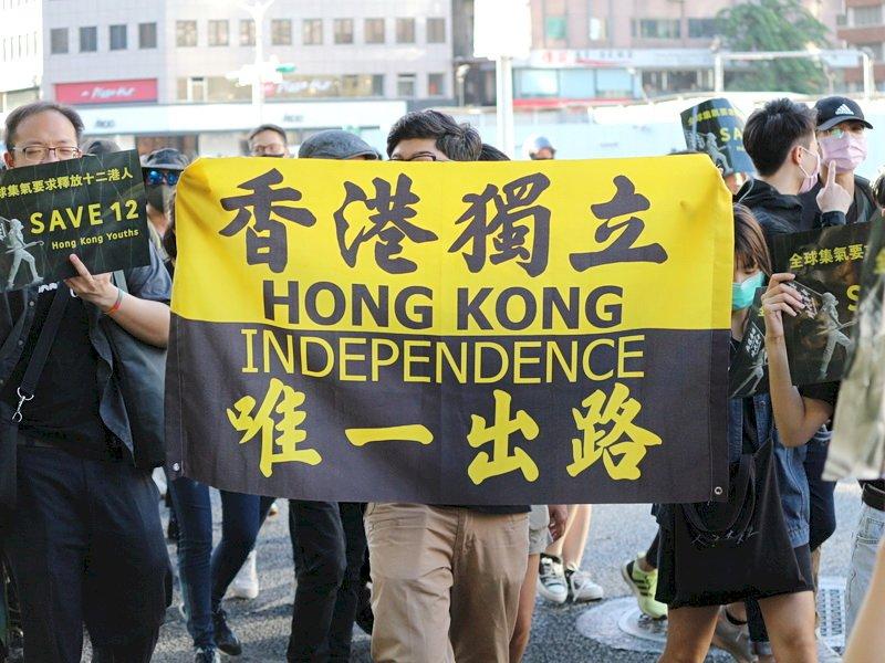台灣撐港遊行 要求中國立即釋放12港人