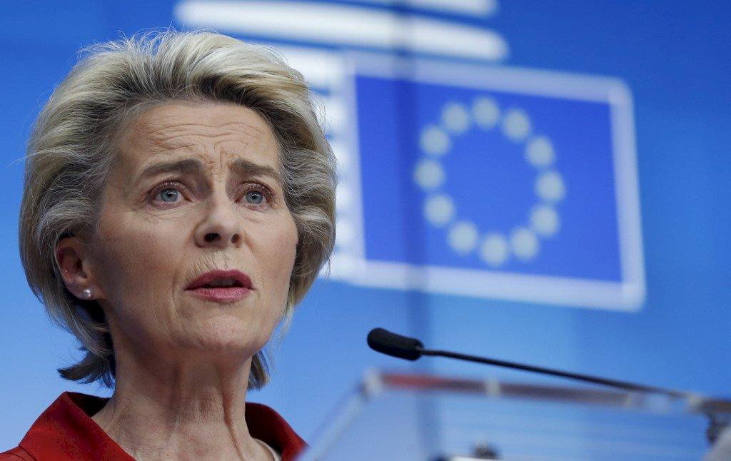歐盟執委會主席:4月起歐盟每個月可收到1億劑疫苗