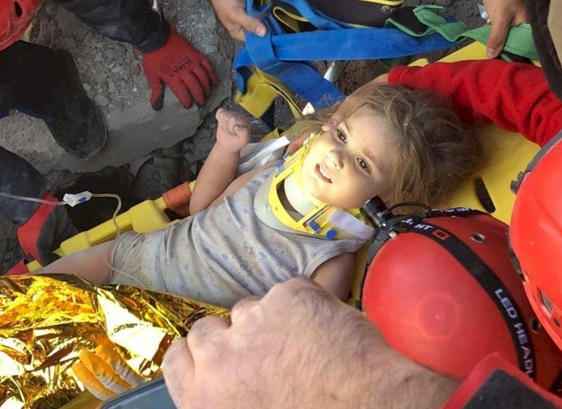 強震後91小時 土耳其再救出3歲女童