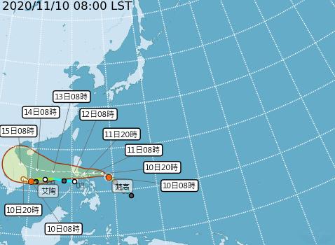今年11月罕見雙颱接力 伴隨東北季風南下、未來一周不平靜