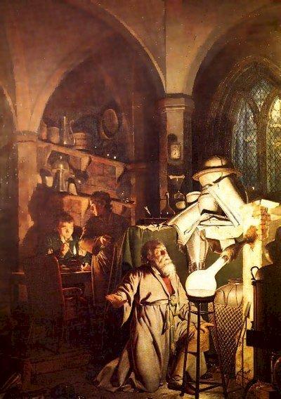 透過畫作一窺煉金術士的工作室