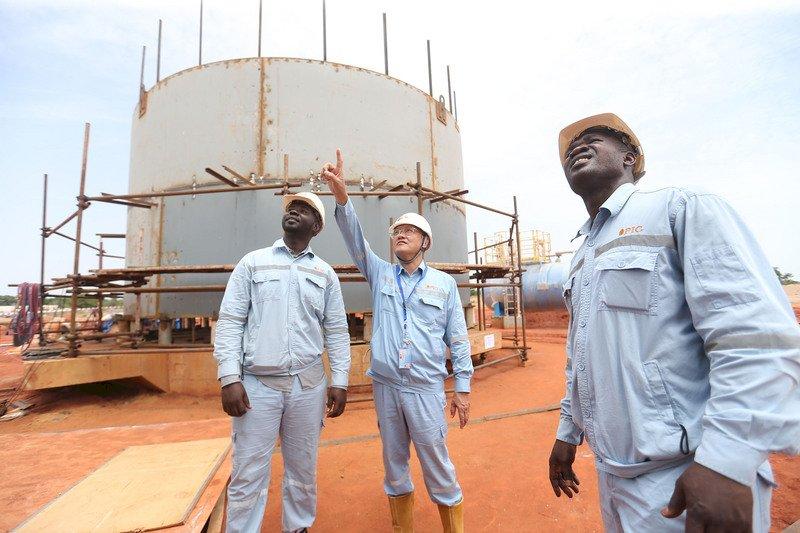 中油於非洲開發的第一船95萬桶原油,預計12月初運回台灣