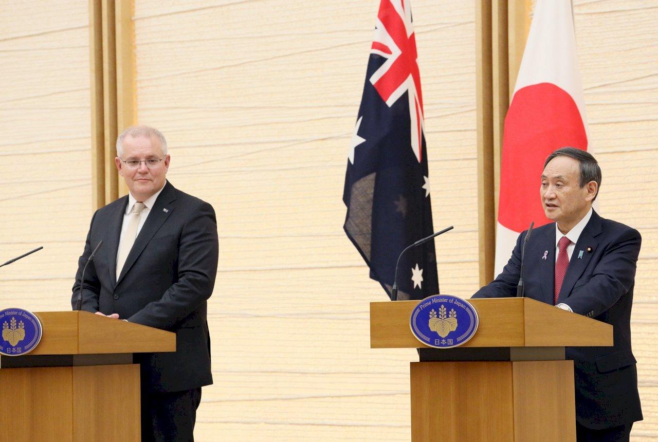 澳媒:菅義偉計畫訪問澳洲  宣示兩國同抗中國威脅