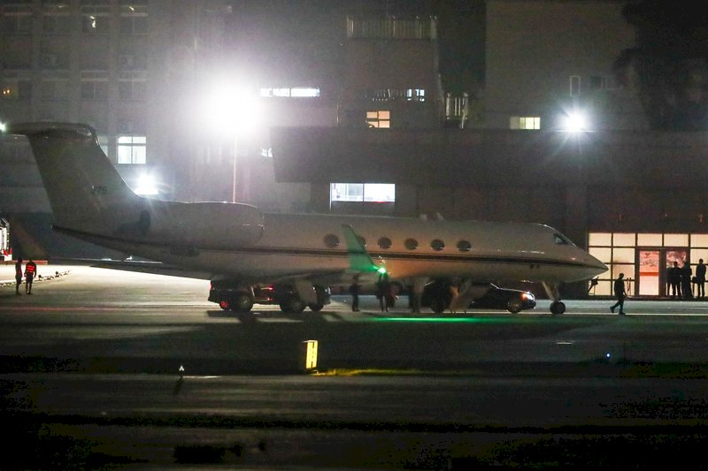 美行政專機晚間離台 外交部:不證實也不評論