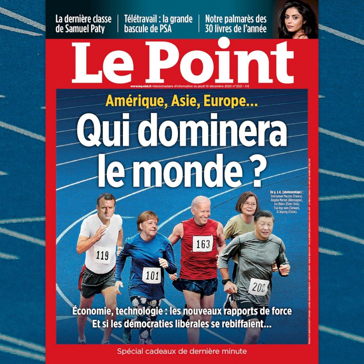 誰將主宰世界? 法週刊封面蔡總統與四大國領袖並列