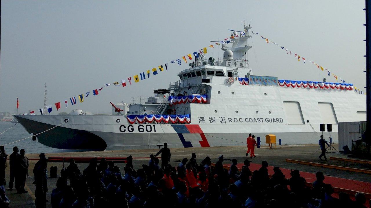 安平艦交船 總統:展現台灣造船實力 強化海巡及國防力量(影音)