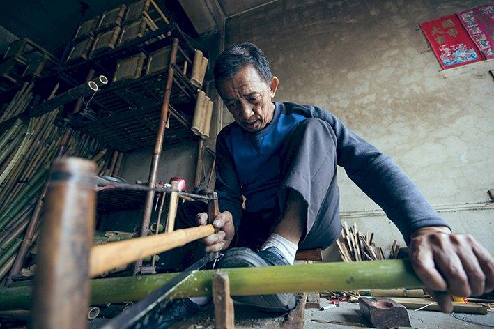 連日本也失傳的包管竹技法 台南「信二竹店」百年技藝傳四代