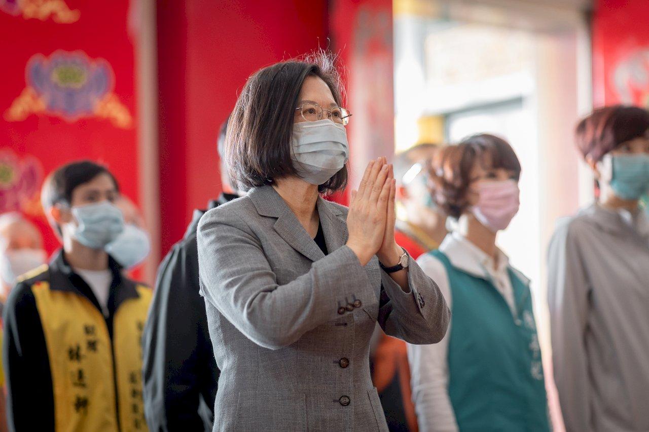 再現本土案例 總統籲戴口罩、勤洗手 繼續做好防疫