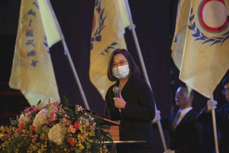 蔡總統出席一貫道感恩大會 提醒防疫不能鬆懈