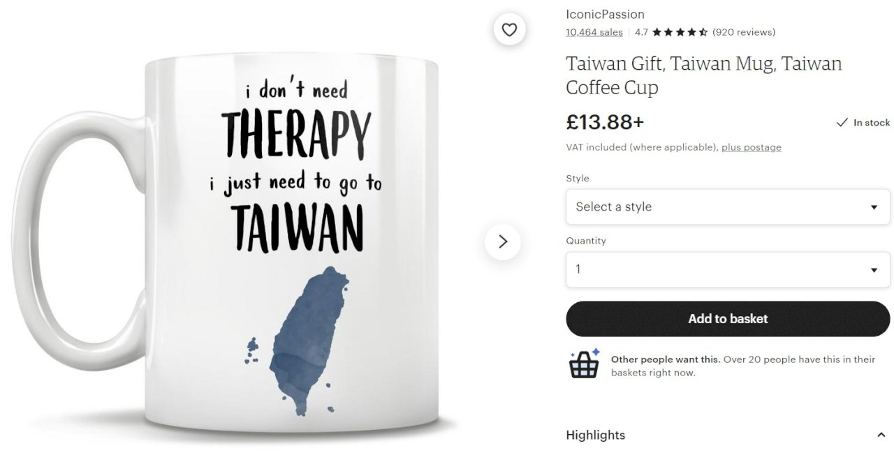 另類肯定!「我不要治療,只需去台灣」外國創意商品熱賣