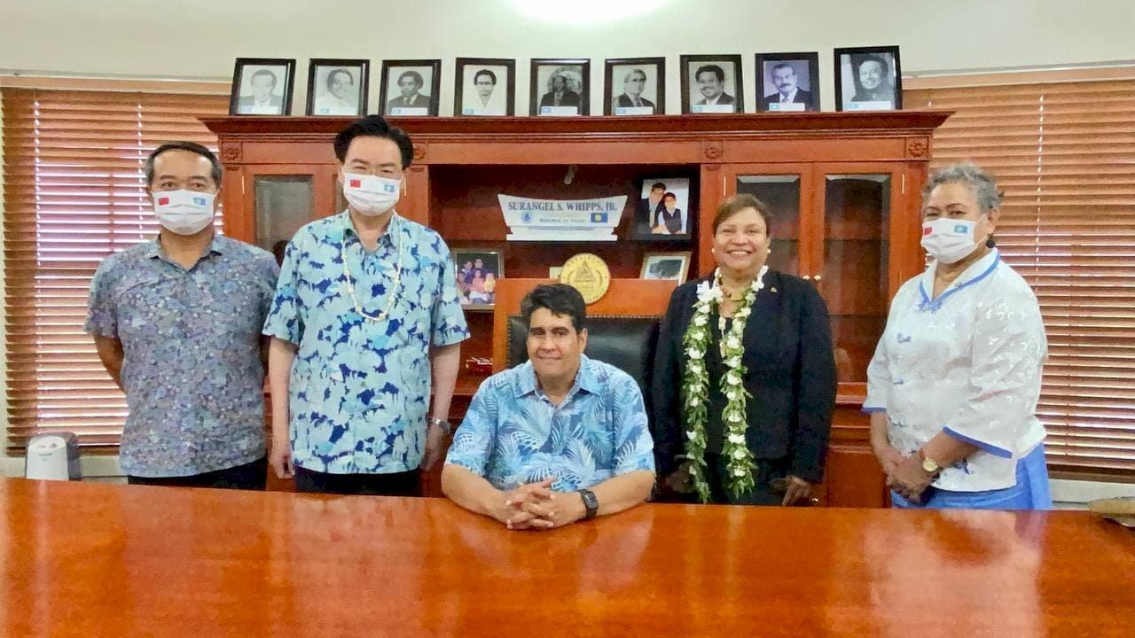 吳釗燮出席帛琉總統就職典禮 傳達台灣祝賀
