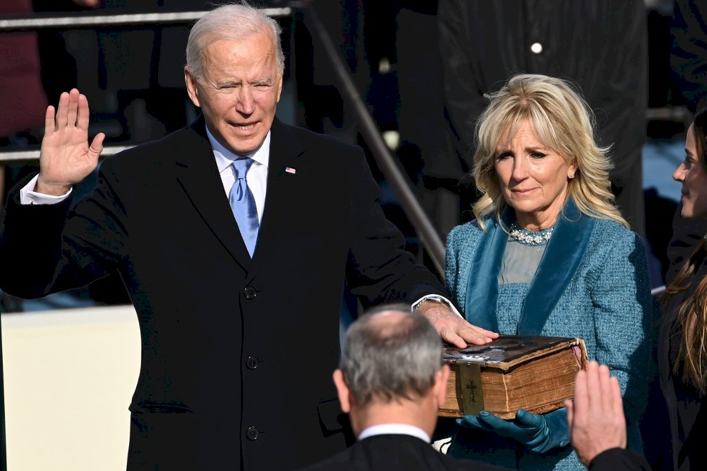 拜登、賀錦麗宣誓就任美國正副總統