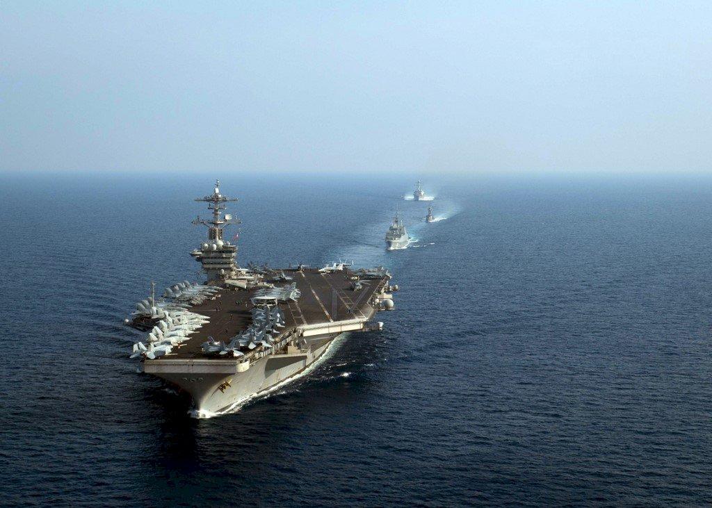 不滿美航母進入南海 中國宣布本週南海軍演
