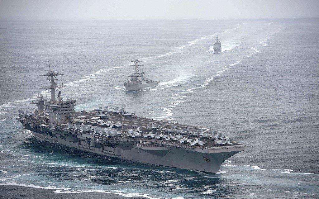 攻擊美航艦演練曝光!金融時報:共機通聯被截