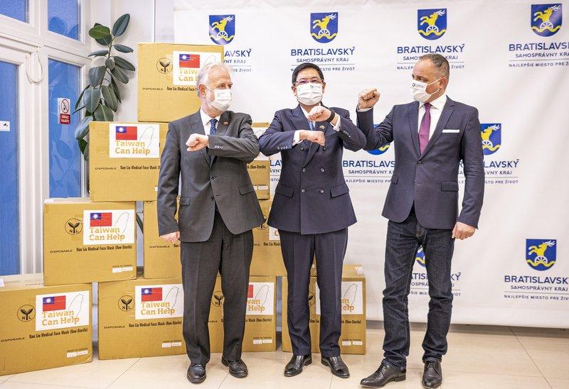 高雄贈口罩 斯洛伐克布拉第斯拉瓦省致謝