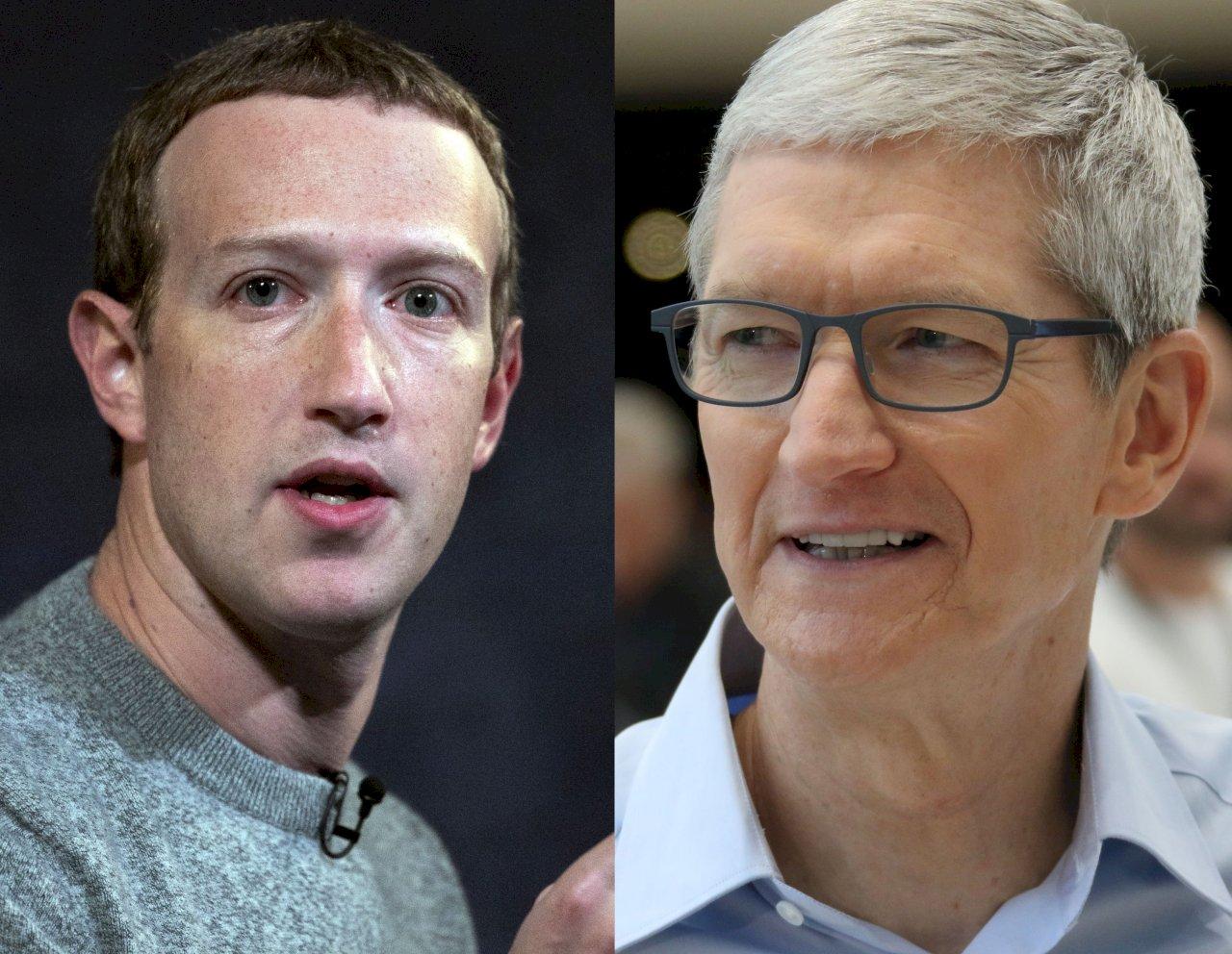 兩大科技巨擘互相槓上 庫克、祖克柏隔空交火