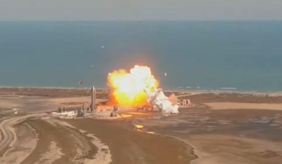 SpaceX載人火箭垂降測試失敗 爆炸化為火球