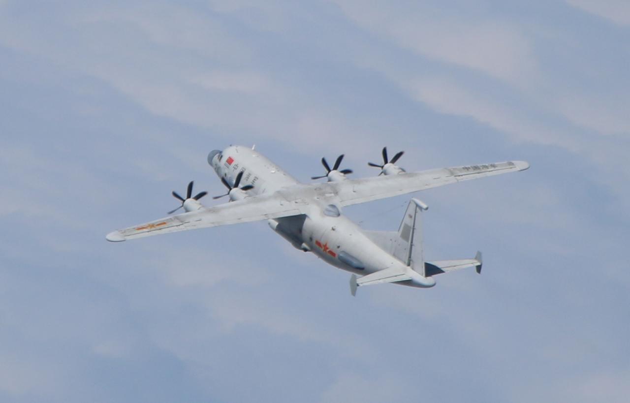 共軍1架運8技偵機擾台 空軍兵力應對