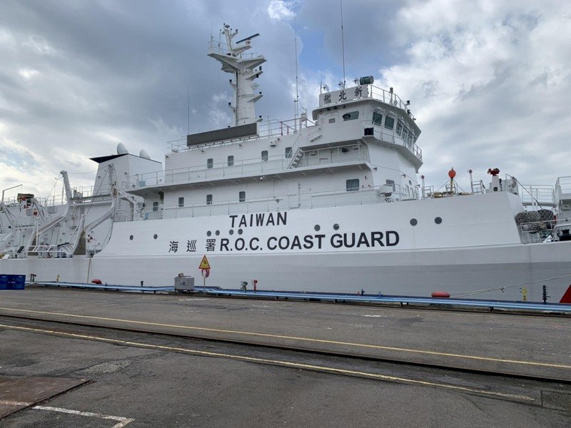 海巡艦艇塗裝加TAIWAN 辜寬敏表達高度肯定