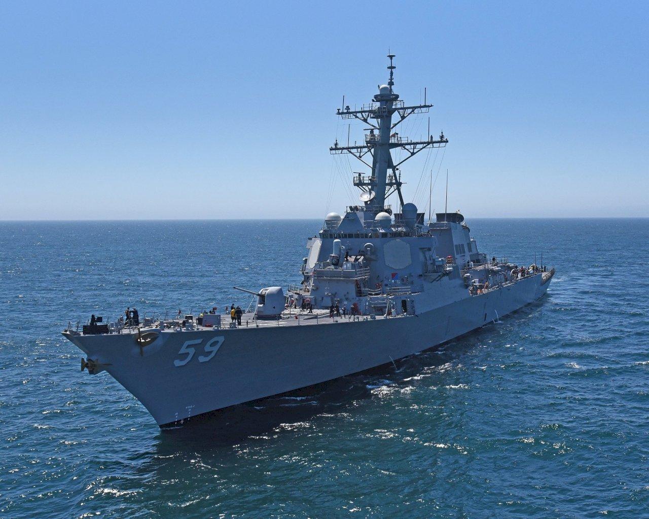 拜登持續南海自由航行任務 美驅逐艦行經南沙群島