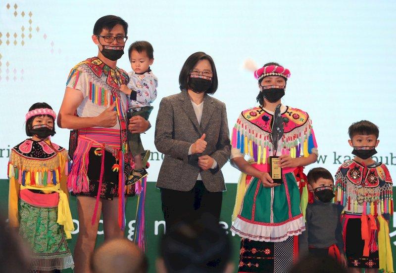 預算提高5倍 蔡總統:讓原住民族語言在生活落地生根