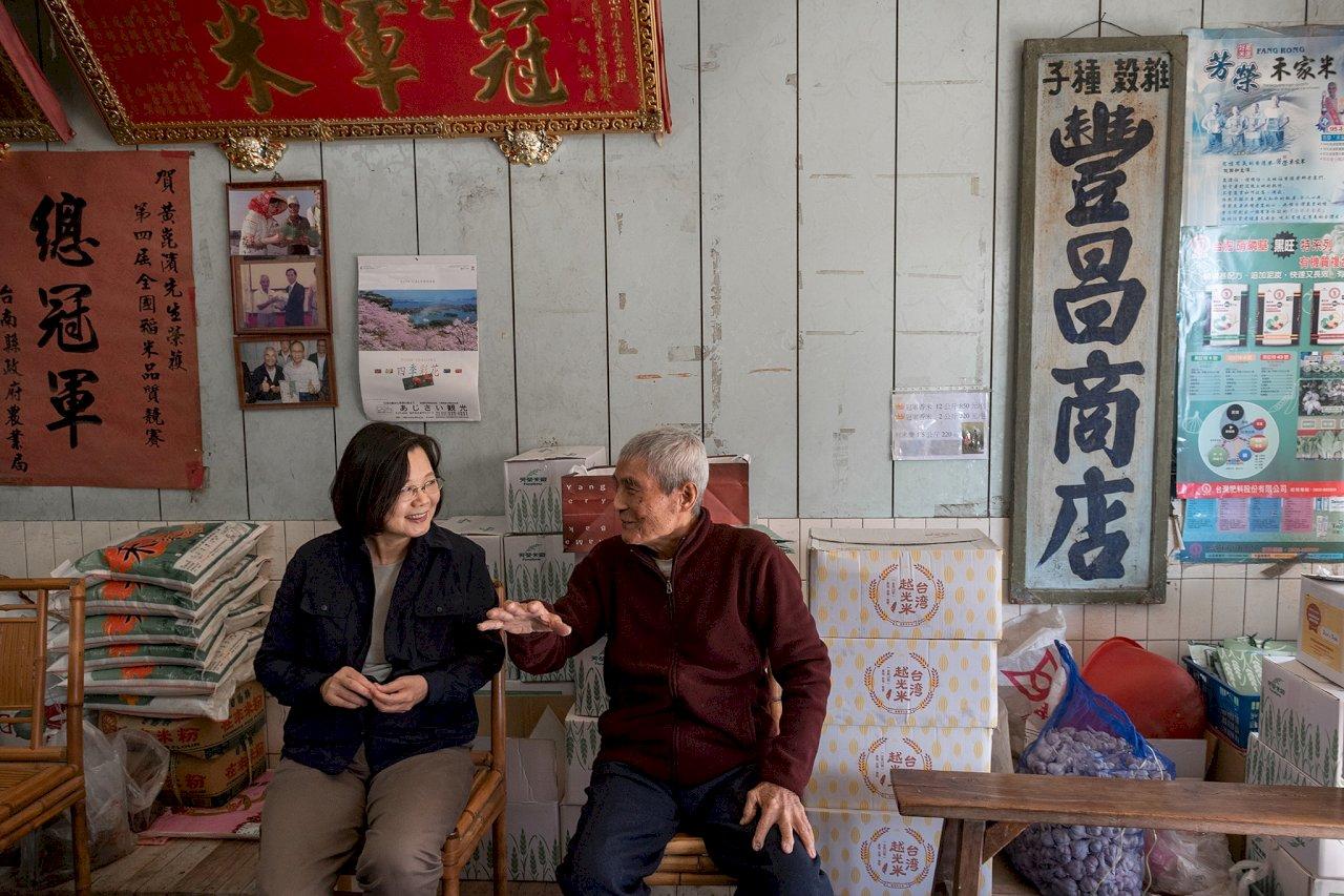 蔡總統:崑濱伯無米樂是台灣人心中鄉愁