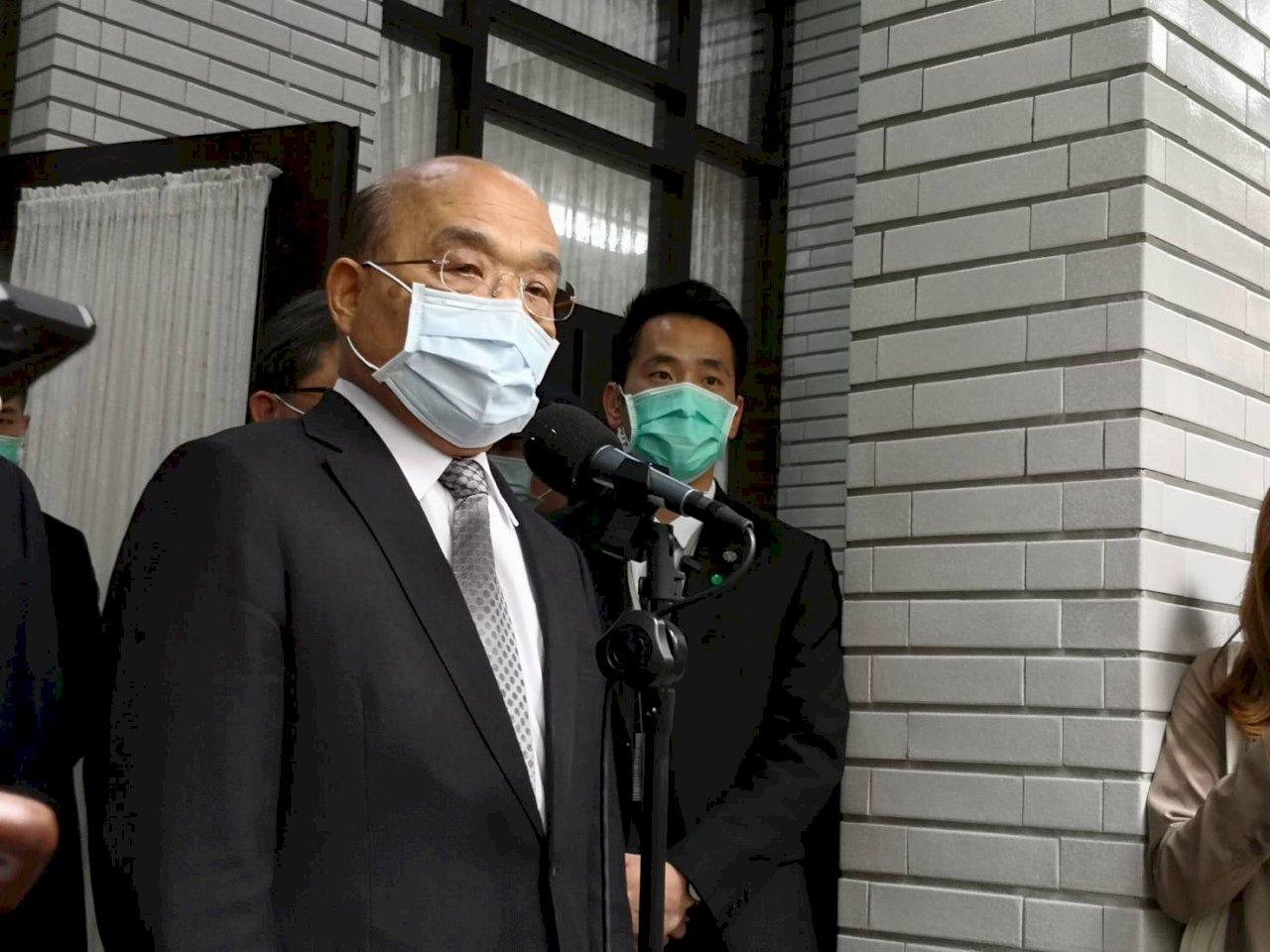 台灣購得2千萬劑肺炎疫苗  蘇貞昌:第一季陸續到貨