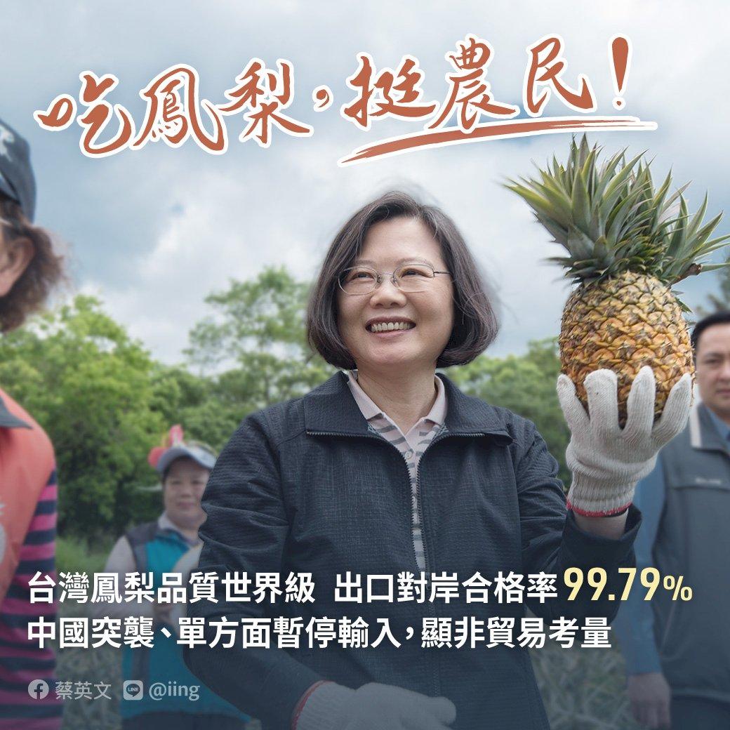 鳳梨效應?蔡英文總統支持度暴增至5成8