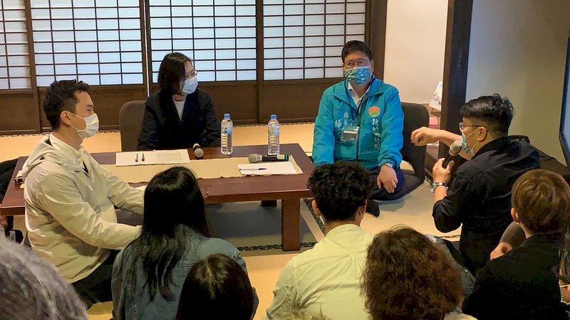 與客庄返鄉移居青年座談 總統:「人」才是地方創生成敗關鍵