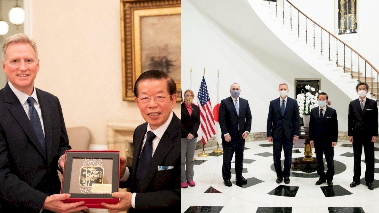 謝長廷進美國駐日大使官邸 台美斷交以來首度