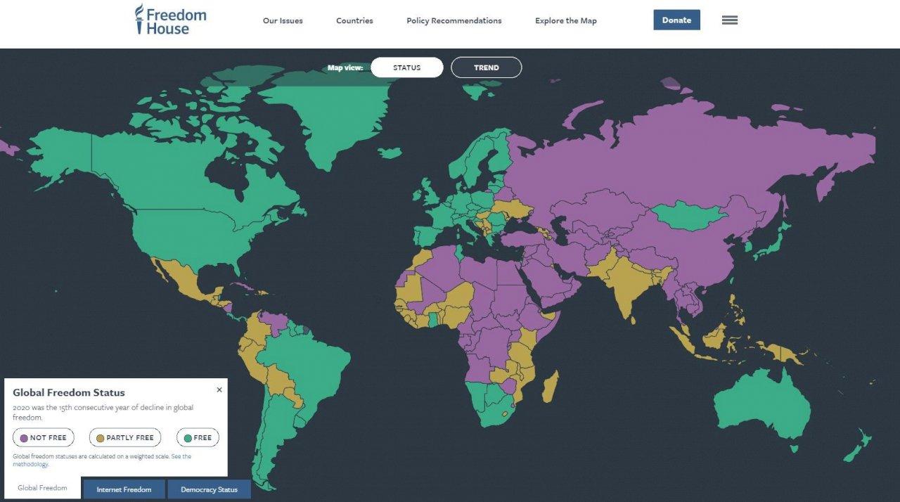 【世界自由度報告】全球民主自由衰退、中國「惡意影響」尤甚