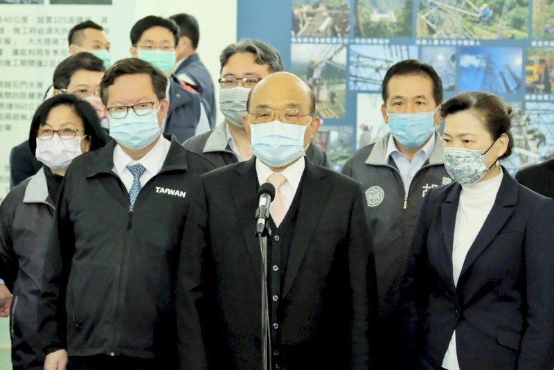 陳吉仲8日會環團 蘇揆:保護藻礁兼顧穩定供電