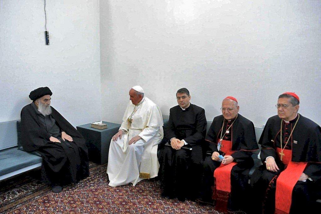 伊拉克什葉派領袖告訴教宗 基督徒公民應生活在和平之中