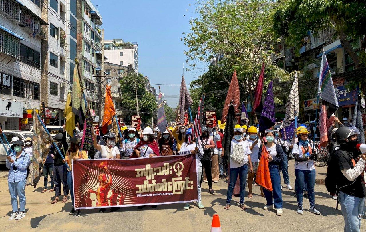 緬甸抗爭遍地開花 呼應罷工人民再上街頭